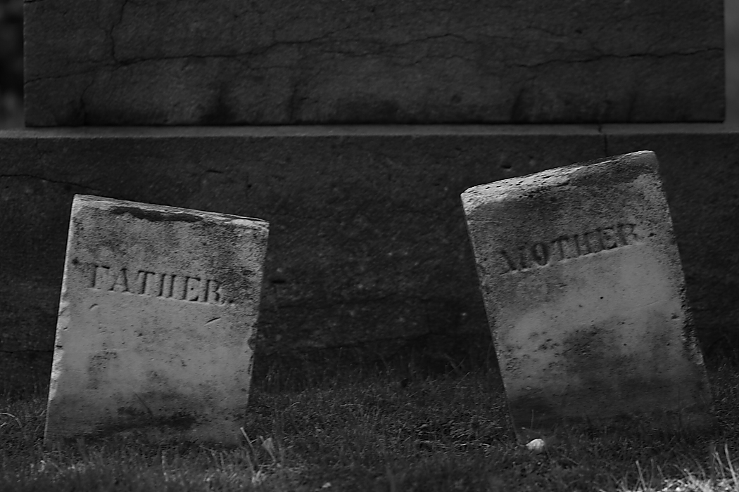 Mother and father tombstone Notre Dame Cemetery Montreal