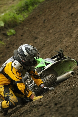 Motocross rider fall crash Ste-Julie