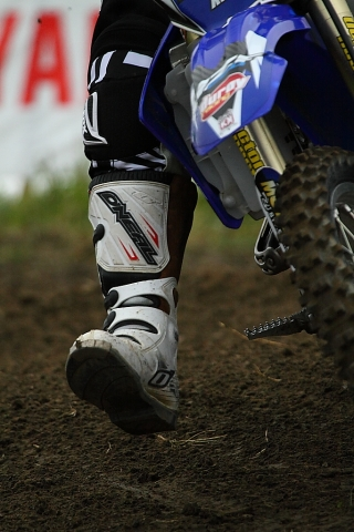 Motocross rider foot Ste-Julie
