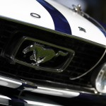 ford mustang front grill pony crest
