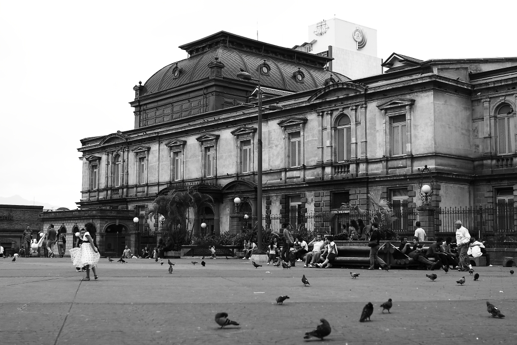 costa rica architecture place pigeons little girl