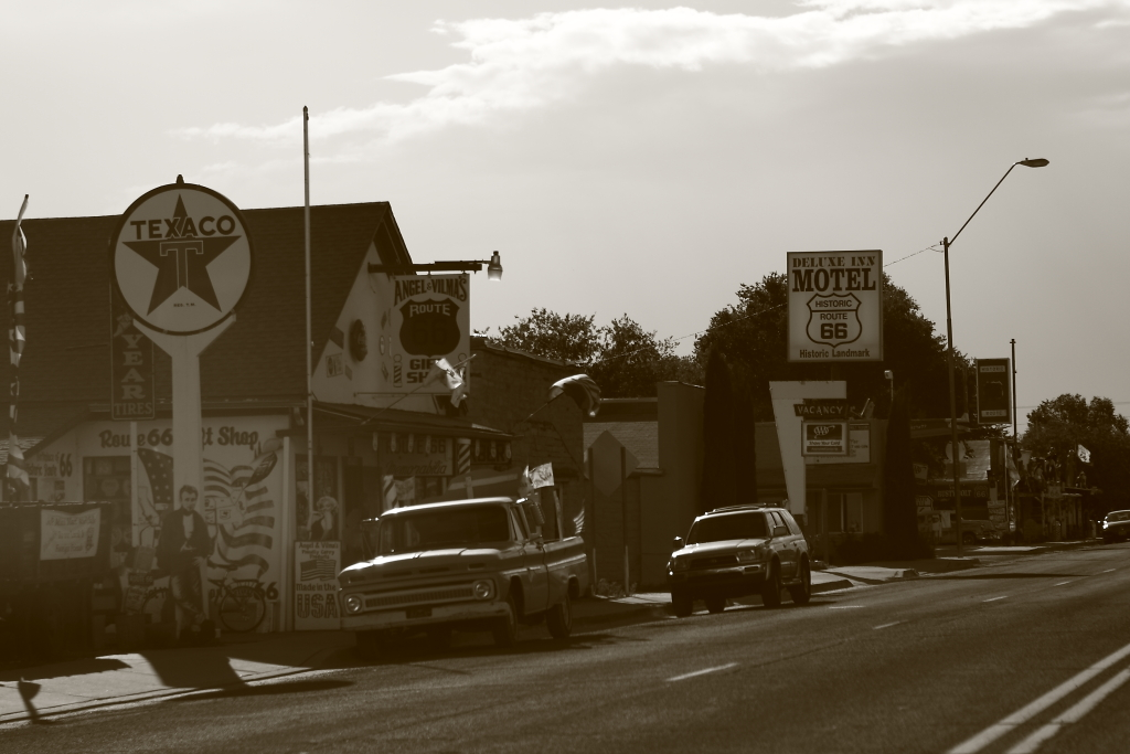 route 66 old motel texaco signs
