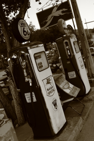 route 66 gas pumps