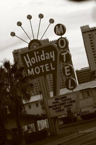 old las vegas holiday motel sign